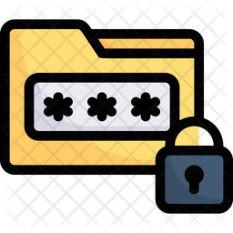 Data Password Colored Outline Icon