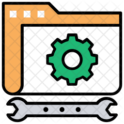 Data Processing Colored Outline Icon