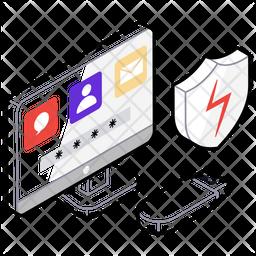 Data Protection Isometric Icon