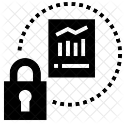 Data Protection Glyph Icon
