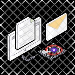 Data Recovery Isometric Icon