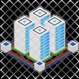 Data Server Isometric Icon