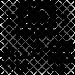 Data Storage Glyph Icon
