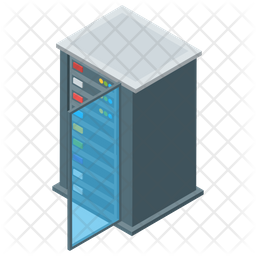 Data Storage Server Isometric Icon