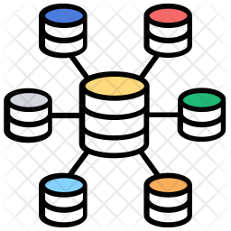 Data Warehouse Colored Outline Icon