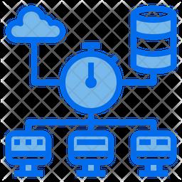 Database Connection Dualtone Icon