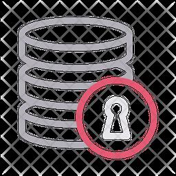 Database Lock Icon
