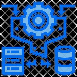 Database Management Dualtone Icon