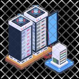 Database Servers Isometric Icon