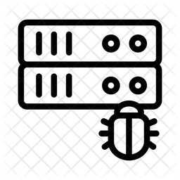 Database Virus Line Icon