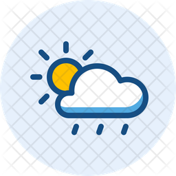 Day Drizzle And Windy Colored Outline Icon