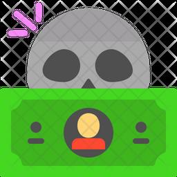 Dead dollar Emoji Icon