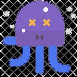 Dead octopus Emoji Icon