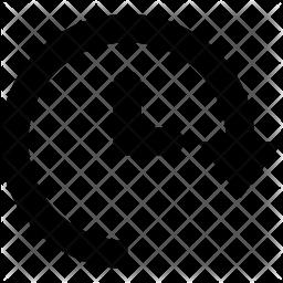 Deadline Glyph Icon