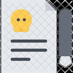 Death Certificate Icon