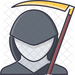 Death Mantle Colored Outline Icon