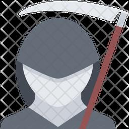 Death reaper Flat Icon