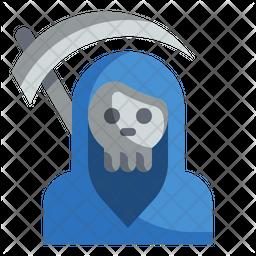 Death Scythe Flat Icon