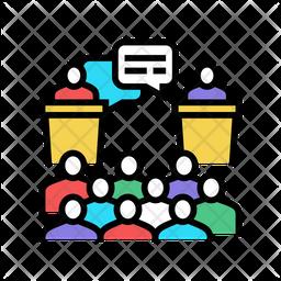 Debate Colored Outline Icon
