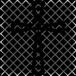 Decorative Cross Icon