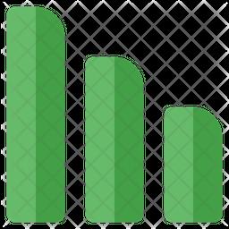 Decrease Bar Chart Icon