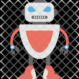 Defense Robot Flat Icon