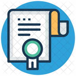 Degree Colored Outline Icon