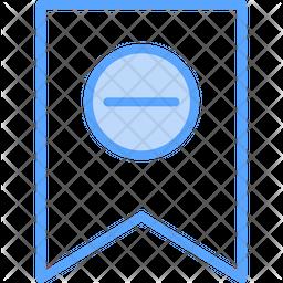 Delete Bookmark Dualtone Icon