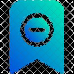 Delete bookmark Gradient Icon