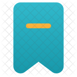 Delete Bookmark Flat Icon
