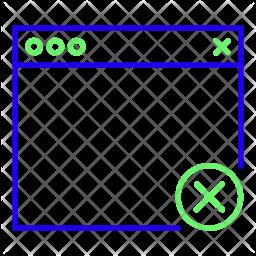 Delete browser Line Icon