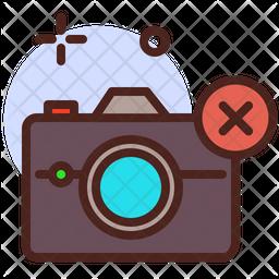 Delete Camera Colored Outline Icon