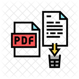 Delete File Colored Outline Icon