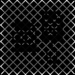 Delete File Glyph Icon