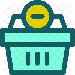 Delete From Basket Colored Outline Icon