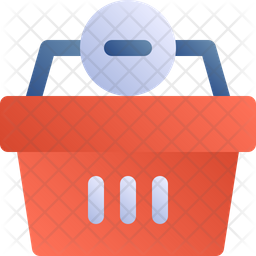 Delete From Basket Gradient Icon