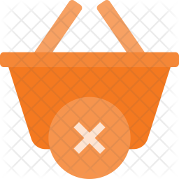 Delete from  basket Flat Icon