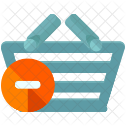 Delete item from basket Flat Icon
