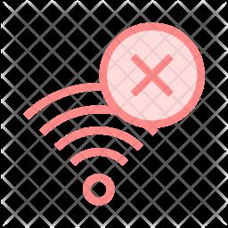 Delete Signal Colored Outline Icon