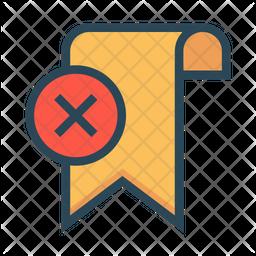 Delete Tag Colored Outline Icon