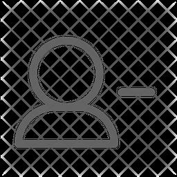 Delete user Line Icon