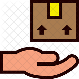Delivered Box Colored Outline Icon