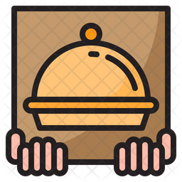 Delivered Order Colored Outline Icon