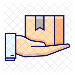 Delivered Package Colored Outline Icon