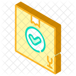 Delivered Package Isometric Icon
