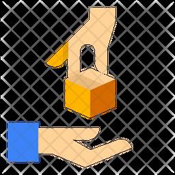 Delivered Parcel Flat Icon