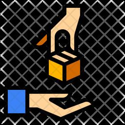 Delivered Parcel Colored Outline Icon