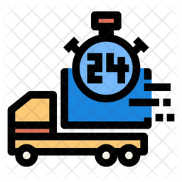 Delivery 24 hour Icon