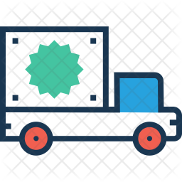 Delivery Colored Outline Icon