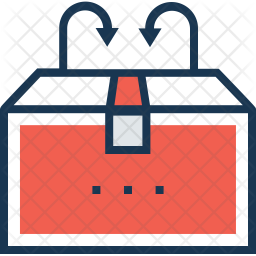 Delivery Box Colored Outline Icon